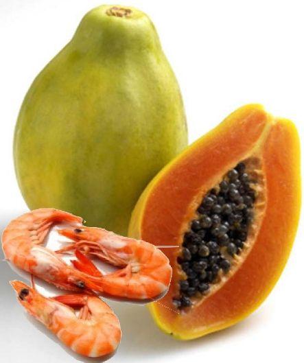 Креветки и папайя - вот что надо для салата!
