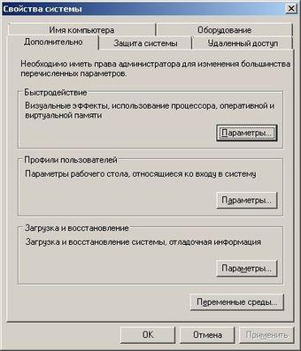 Быстродействие системы Windows 7