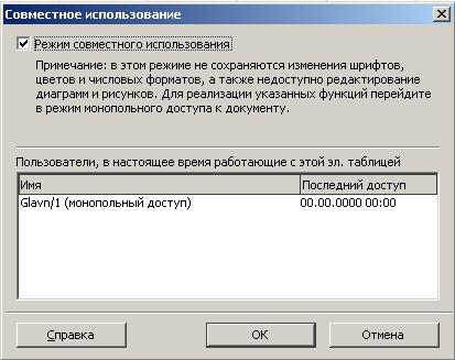 Совместное использование таблицы в OpenOffice