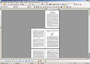 рабочее окно в OpenOffice